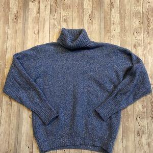 Olper blue wool blend turtleneck sweater